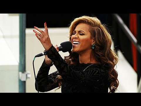 Beyonce sings Star-Spangled Banner