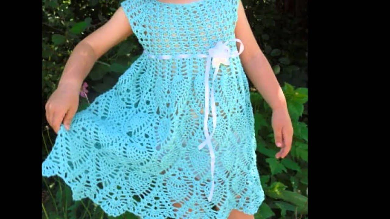 Modelos de vestidos de niСЂС–РІВ±a tejidos a crochet