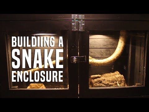 Making A Snake Enclosure from an Old Shelf!