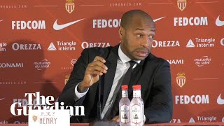 Thierry Henry forgets about translator during first Monaco press conference