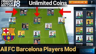 About video: unlock all fc barcelona players in dream league soccer 2018. this is a 2018 mod which you can get bar...