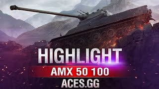 По старинке! AMX 50 100 на карте Химмельсдорф в World of Tanks