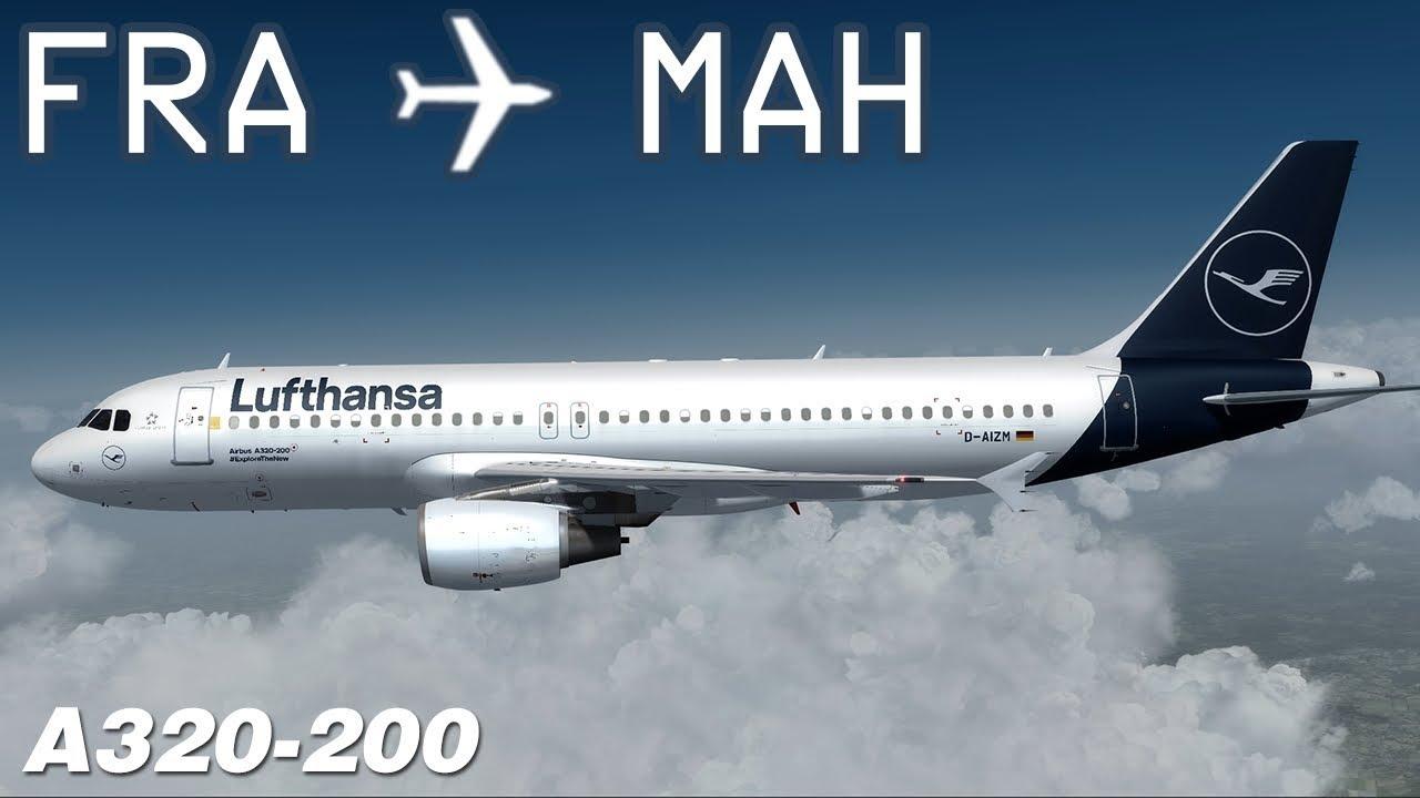 [P3D v4] Frankfurt to Menorca | DLH1482 | Lufthansa | flightsimlabs Airbus  A320 | IVAO