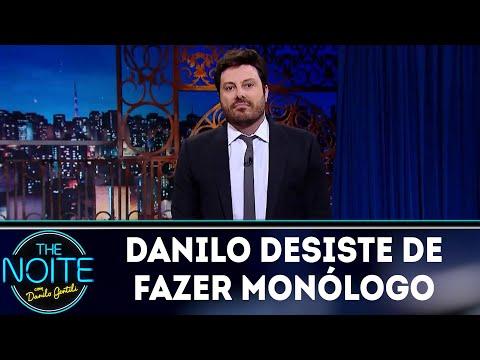 Ultraje faz Danilo desistir de fazer monólogo | The Noite (17/05/18)