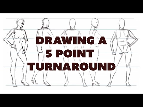 How to draw a five point turnaround