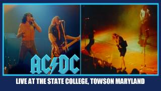 AC/DC High Voltage LIVE: At The State College Towson Maryland October 16, 1979 HD