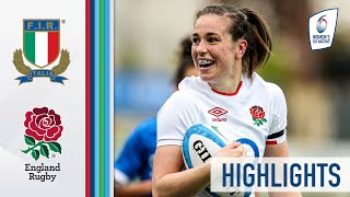 Italy v England HIGHLIGHTS Late Drama in High Scoring Match 2021 Women s Six Nations