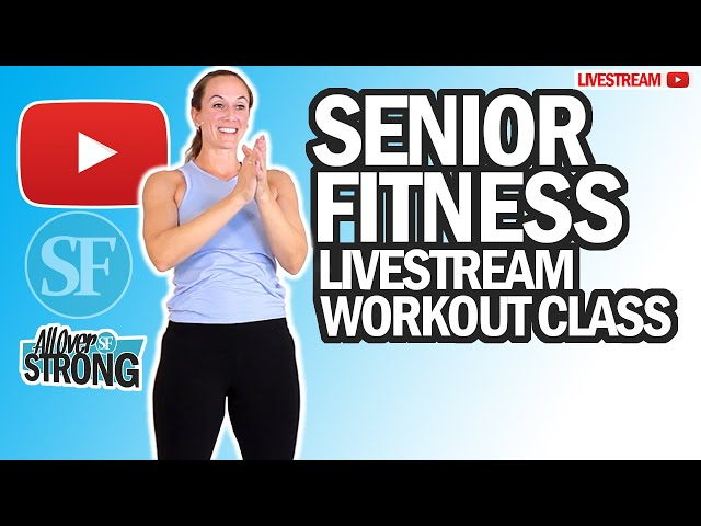 Energizing Bodyweight Only Workout For Seniors (No Equipment)   Livestream Class