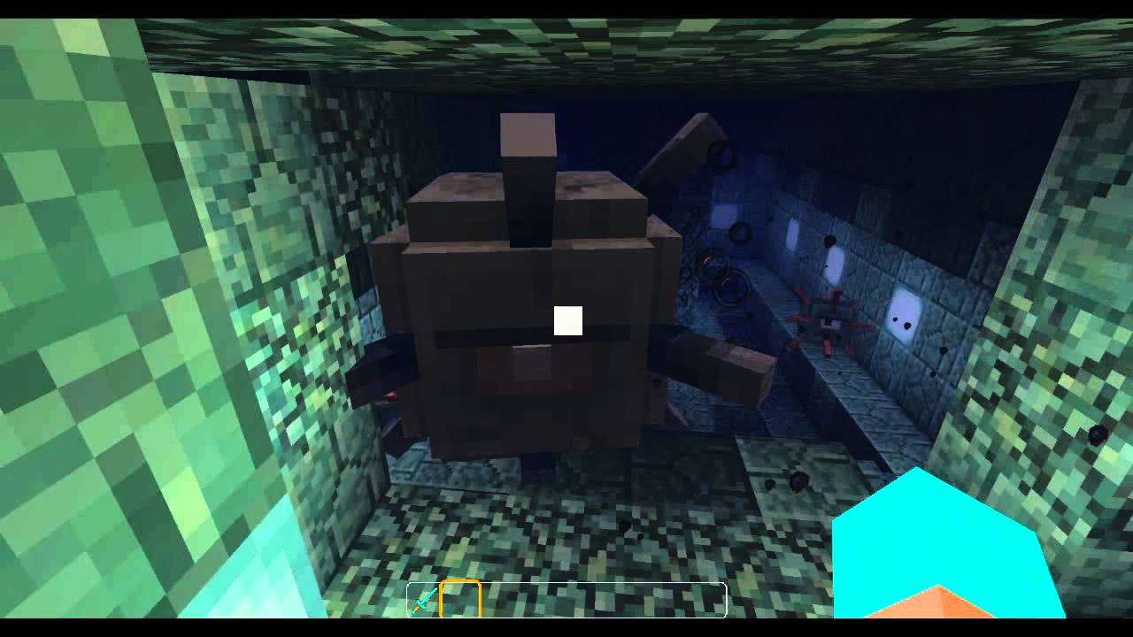 Minecraft water temple guardians