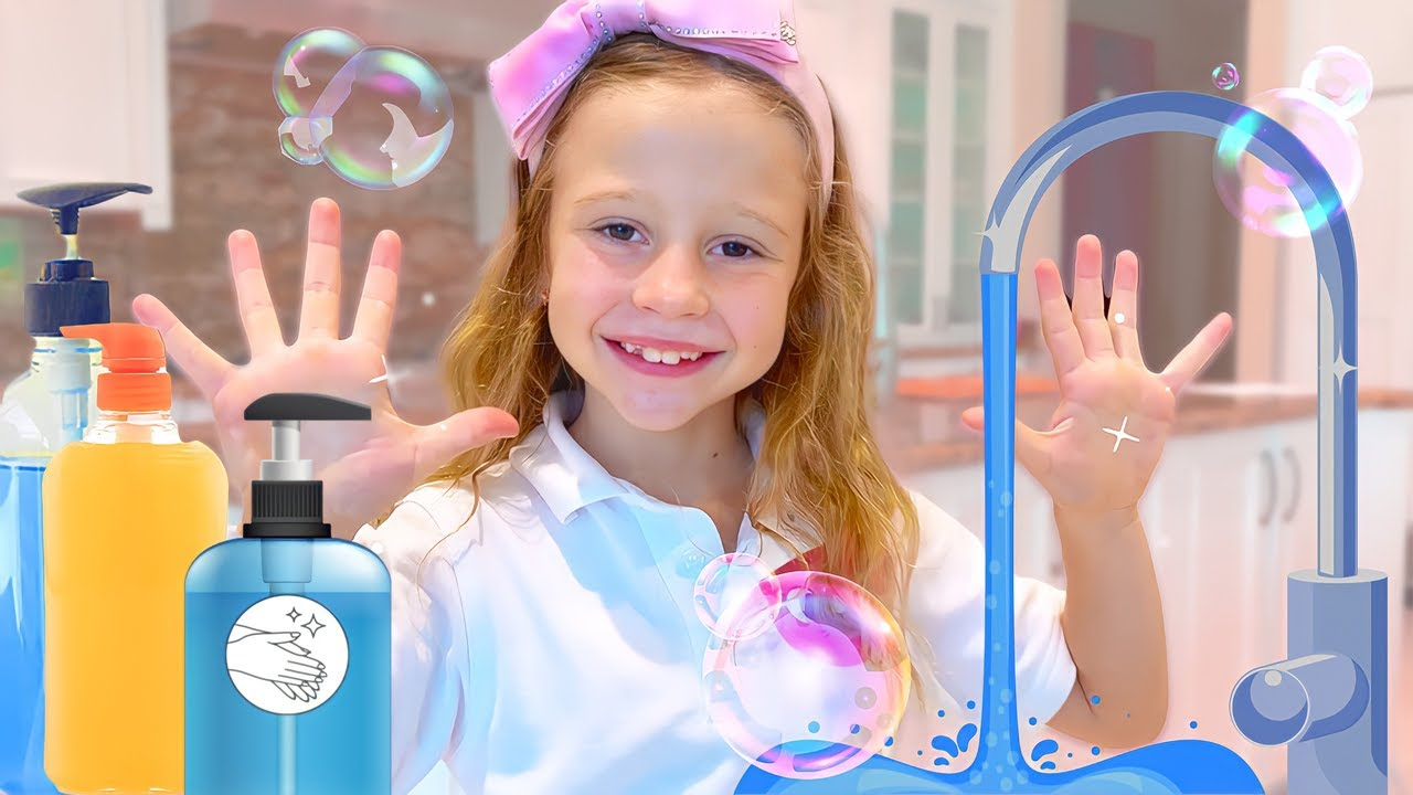 Nastya show her usual school day with morning routine. Story for kids