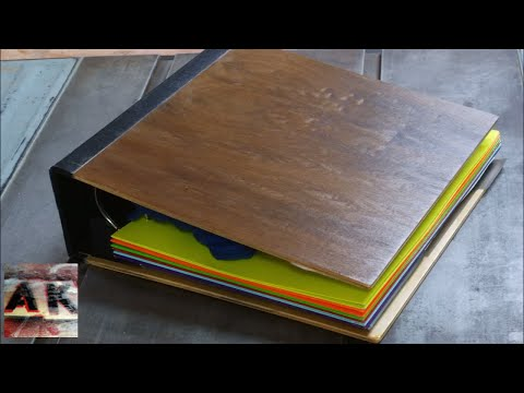 DIY Walnut Veneered Binder Music Warsaw by Dessa Upcycled Reclaimed Back to School Project