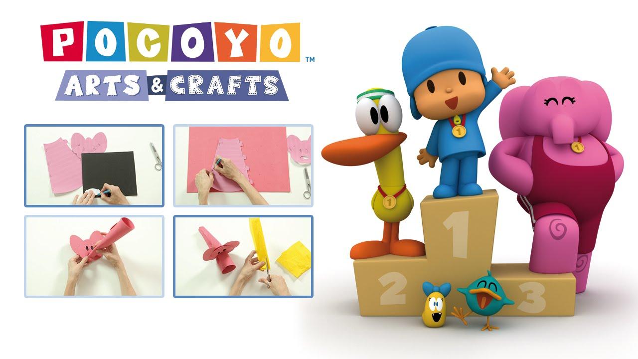 Youtube Art And Craft: Pocoyo Arts & Crafts - Inauguration Torch