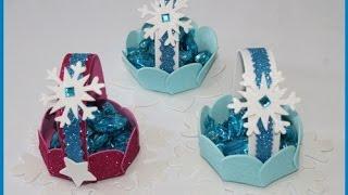 como fazer cestinha da frozen em EVA