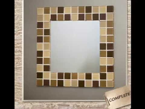 homemade diy mirror frame ideas youtube