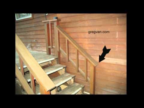 Big Mistake When Building A Deck Stairway Handrail