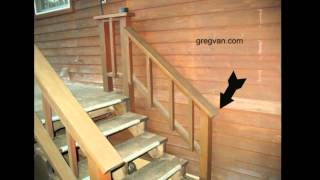 Watch This Video Before Building A Deck Stairway Handrail