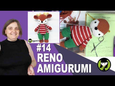 RENO NAVIDEÑO AMIGURUMI 14 amigurumis de navidad