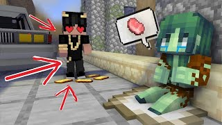POOR Girl LOVE RICH Boy - minecraft animation - REDDiamond