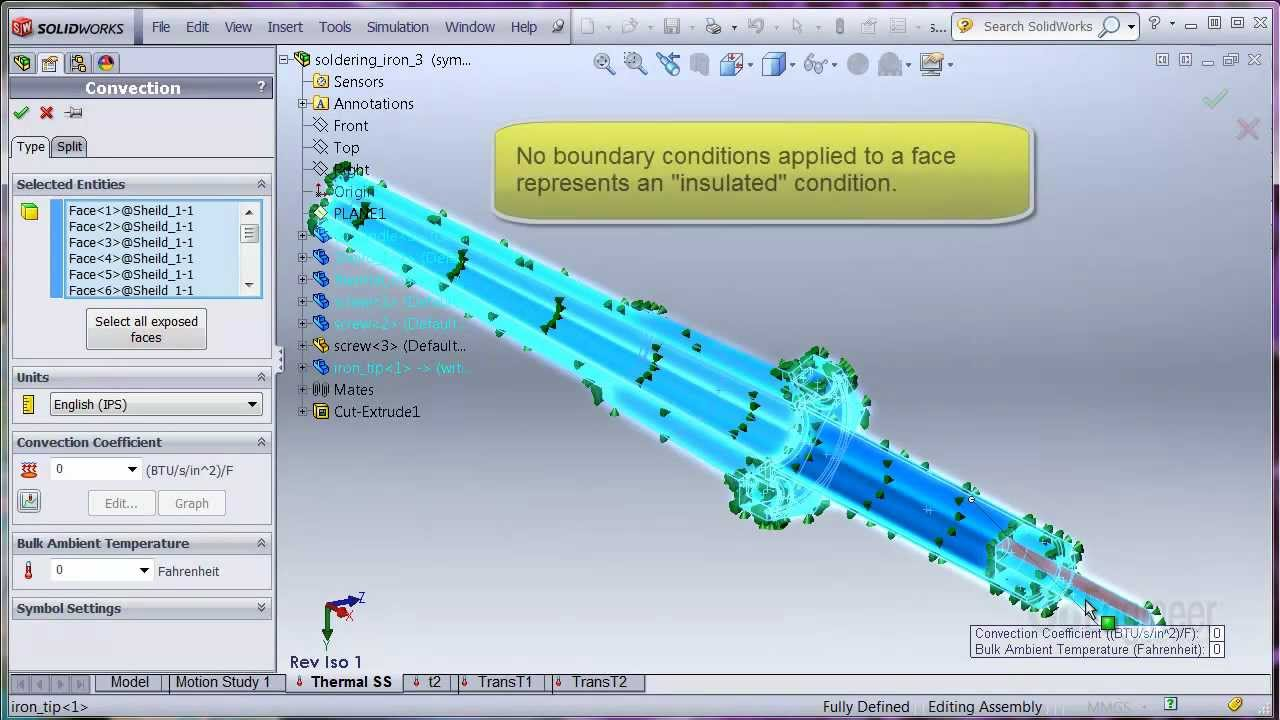 Solidworks simulation heat transfer with thermostat youtube solidworks simulation heat transfer with thermostat baditri Images
