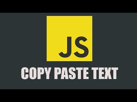 How to Copy and Paste Text in Javascript thumbnail