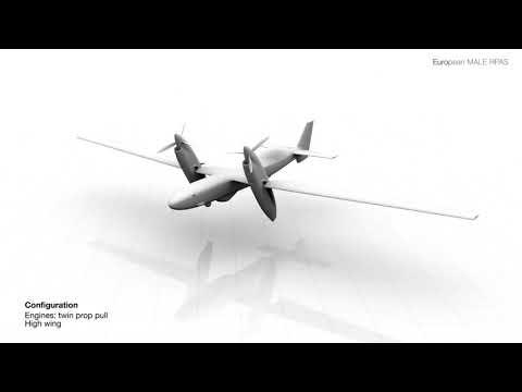 Airbus European MALE RPAS UAV Drone