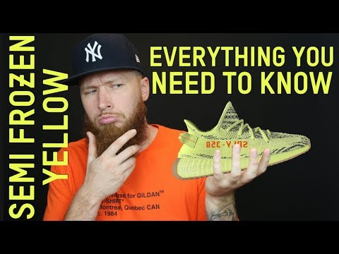 ebd935ec0e9b3 ADIDAS YEEZY BOOST 350 V2 SEMI FROZEN YELLOW!!! EVERYTHING YOU NEED TO  KNOW!!!