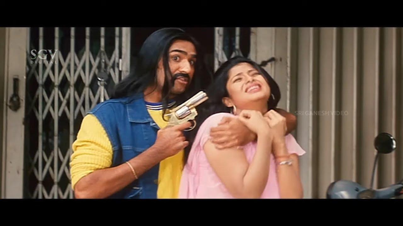 Saikumar Ultimate Entry To Save Girl From Rowdies | Bangalore Bandh Kannada Movie | Part-1