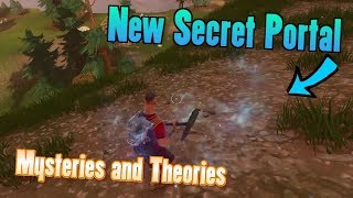 NEW SECRET MOUNTAIN PORTAL FOUND - Potential New Season 5 Hidden Area? (Fortnite Storyline Theory)