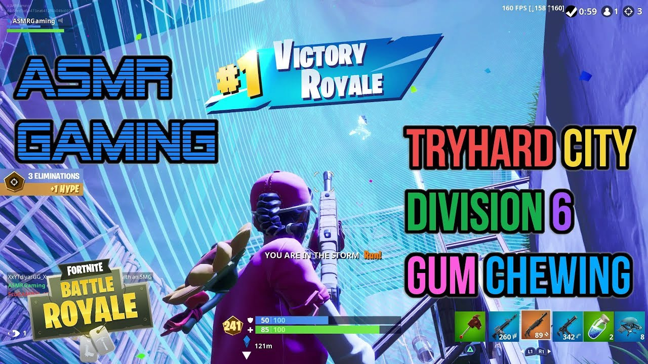 ASMR Gaming | Fortnite Tryhard City Division 6 Relaxing Gum Chewing