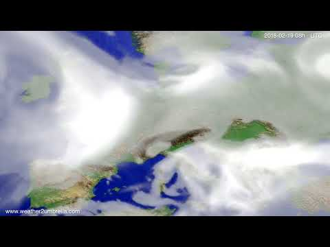Cloud forecast Europe 2018-02-16