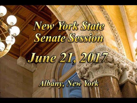 New York State Senate Session - 06/21/17