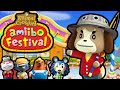 Animal Crossing Amiibo Festival PART 2 Gameplay Walkthrough (Franklin Visits Isabelle & Digby) Wii U