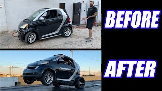 Building A Turbo KSeries SMART CAR To Do WHEELIES in 16 Minutes!