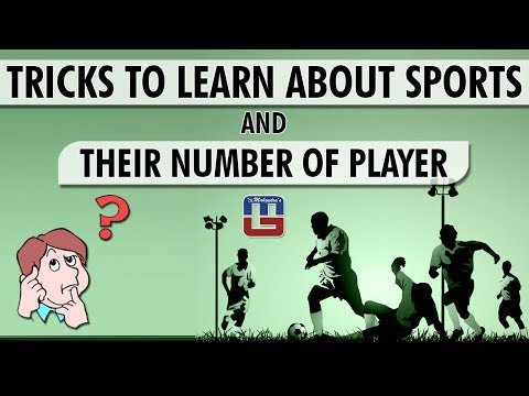 TRICKS TO LEARN ABOUT SPORTS AND THEIR NUMBER OF PLAYER | GENERAL KNOWLEDGE