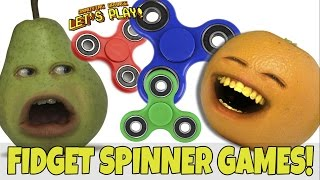 Annoying Orange and Pear Play - FIDGET SPINNER GAMES!