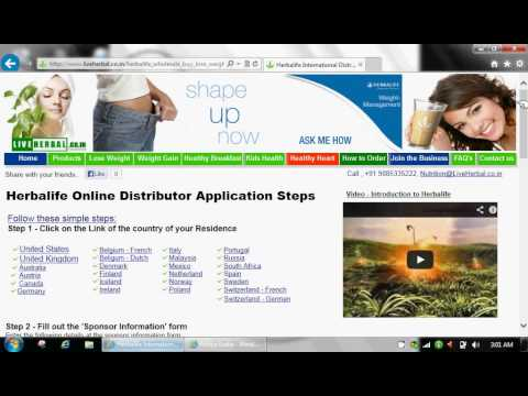 How To Become A Herbalife Distributor - India, United States (US), Canada, UK, Etc