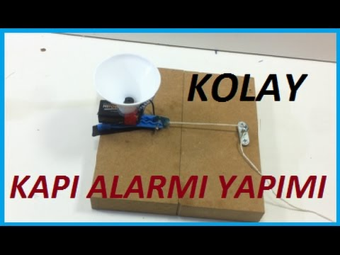 Basit Kapı Alarmı Yapımı-Hobi Amaçlı Siren Yapımı