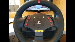 обзор руля Logitech MOMO Racing Играем City Car Driving, Project Cars, NFS MW  от первого лица