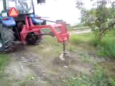 Ogromny Wiertnica glebowa, wiercenie otworów w ziemi - YouTube VS49