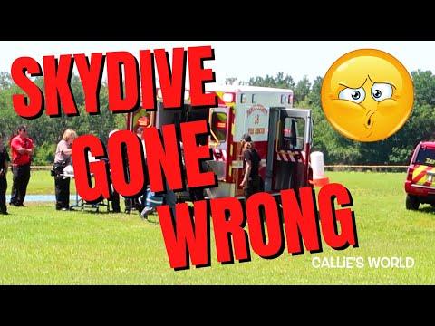 Horrible Skydive Crash CAUGHT ON VIDEO: Skydive City Zephyrhills FL