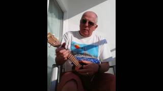 Here comes the sun on my ukulele at Calis Beach in Turkey.