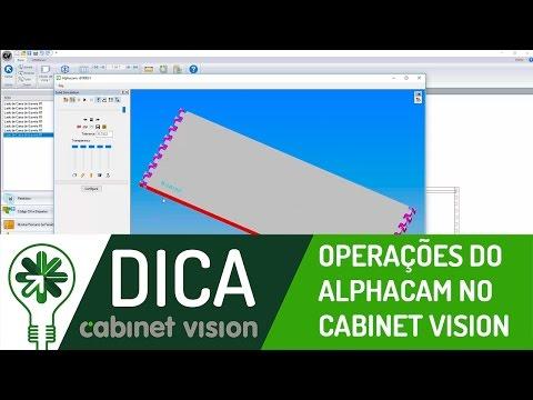 Dica 06 CV | Operações do Alphacam no Cabinet Vision
