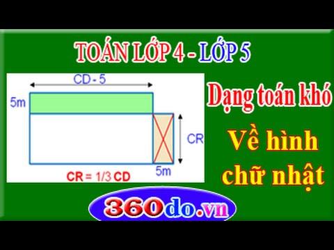 Toán lớp 4, Toán lớp 5: Dạng toán khó về Hình Chữ Nhật