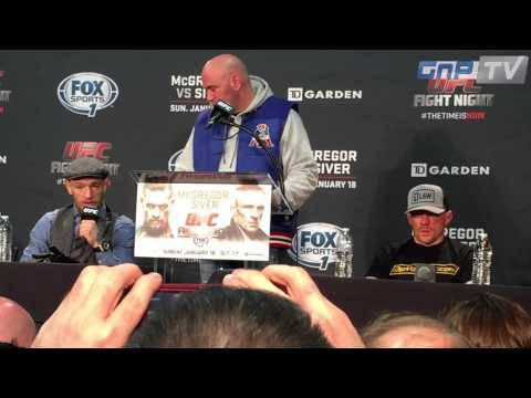 UFC Boston: Post-Fight Press Conference Highlights w Conor McGregor & Dennis Siver