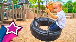 Repeat youtube video Incredible Kids Playground Fun Giant Slides Swings Playtime in Real Life Children Playing Fun Games