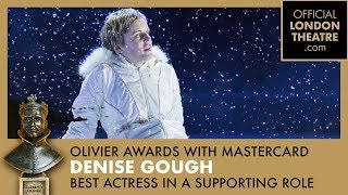 BEST ACTRESS IN  A SUPPORTING ROLE - Denise Gough for Angels In America - Olivier Awards 2018