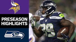 Video Vikings vs. Seahawks | NFL Preseason Week 2 Game Highlights download MP3, 3GP, MP4, WEBM, AVI, FLV Agustus 2017