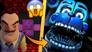 HELLO NEIGHBOR CON FIVE NIGHTS AT FREDDY'S EN MINECRAFT 😱 | DIMENSIONES #9