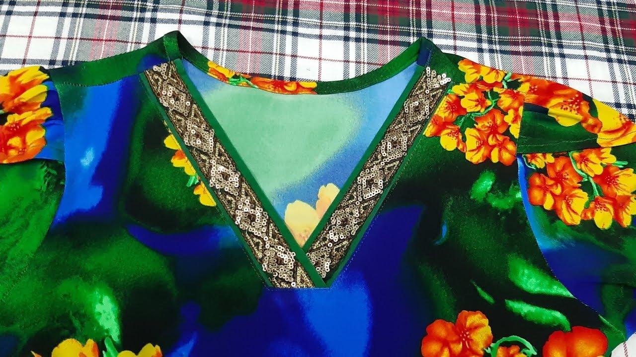 Cắt may đồ bộ nữ mặc nhà cổ tim chéo. Kiểu số 14 ĐAM MÊ MAY VA HANA NGUYÊN