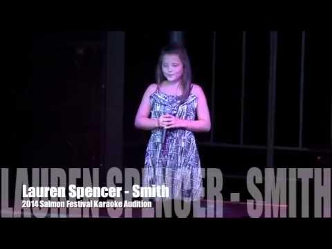 Lauren Spencer-Smith   2014 Salmon Festival Karaoke Audition